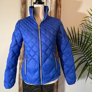 Michael Kors Blue Quilted Packable Puffer Jacket
